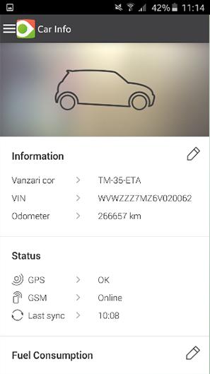 fliGO monitorizare flota auto prin GPS informatii vehicul