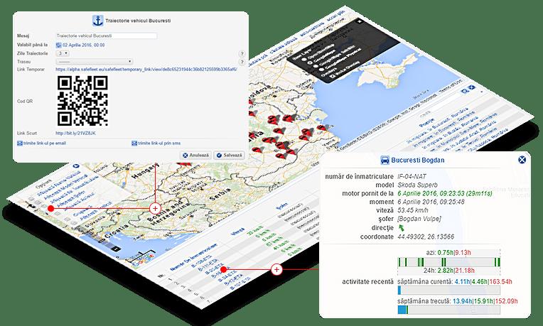 monitorizare flota pozitie curenta pe harta