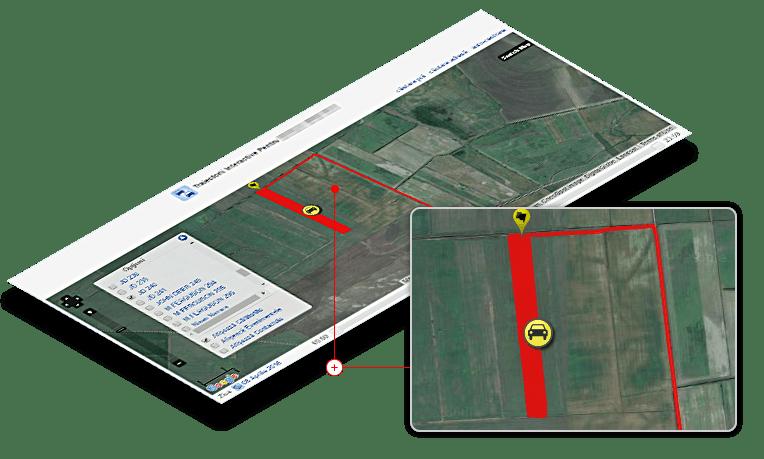 monitorizare flota auto harta regiuni agricole de lucru