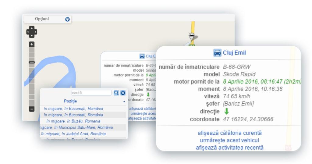 urmarire, localizare si monitorizare auto GPS cu SafeFleet Portal