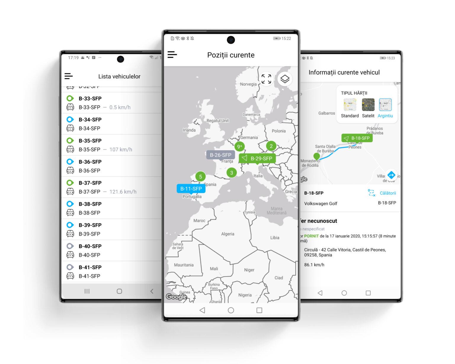 fliGo – aplicatie mobila localizare autovehicule flota - SafeFleet