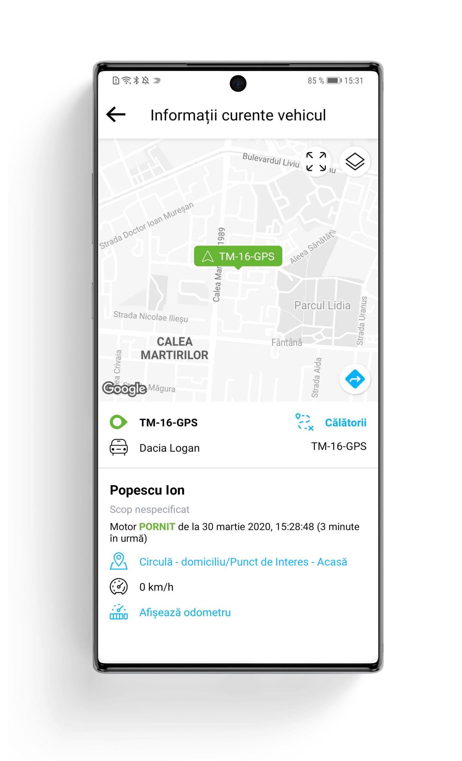 aplicatie mobila monitorizare comportament sofer