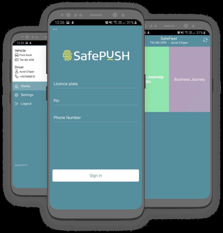 aplicatie safepush - safefleet romania